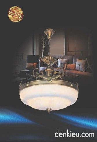 Đèn Thả Đồng KNB 0933A (Ø400 ×H550+400)