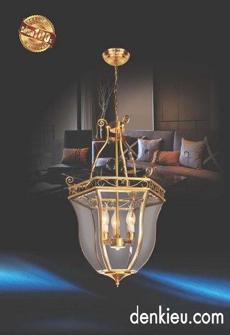 Đèn Thả Đồng KNB 216 (Ø400 ×H700+500)