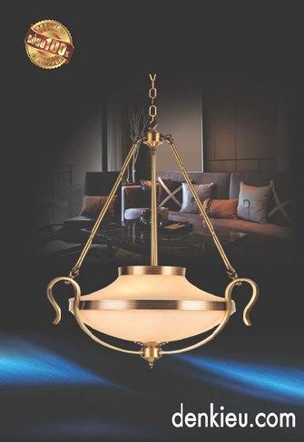 Đèn Thả Đồng KNB 655 (Ø560 ×H840+500)
